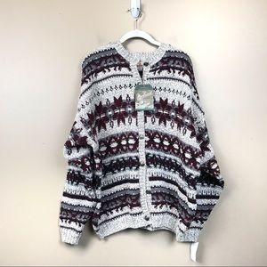 New with tags Woolrich snowflake cardigan sweater